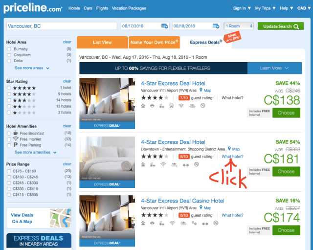 PriceLine What Hotel