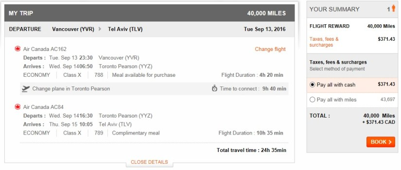 Canada to Israel, How to Fly from Canada to Israel for $73.53