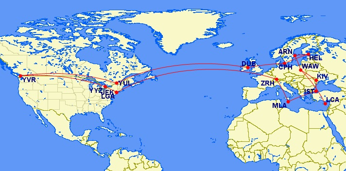 while booking Aeroplan Mini-RTW, Weird Things I've Noticed While Booking Aeroplan Mini-RTW redemptions