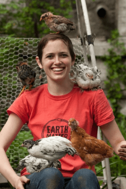 Meredith_and_chickens