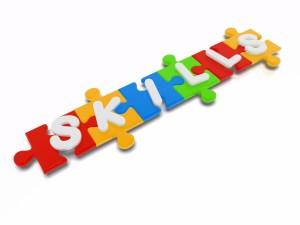 3D Concept Of A Skills Puzzle.