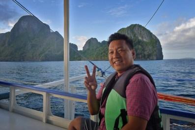 On the El Nido, Palawan Boat