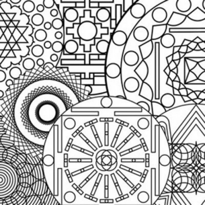 sample from the mandala coloring book
