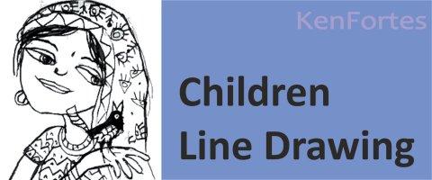children art line drawing kenfortes art class
