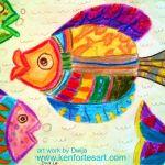 Dwija crayon art image BTM jp nagar art class kenfortes