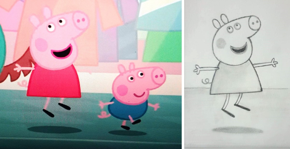 HOW TO DRAW PEPPA PIG - KENFORTES ONLINE kids art lessons
