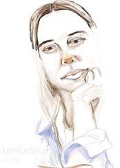 portrait in digital pencil sketching method- evel 2 advanced art courses by kenfortes art school