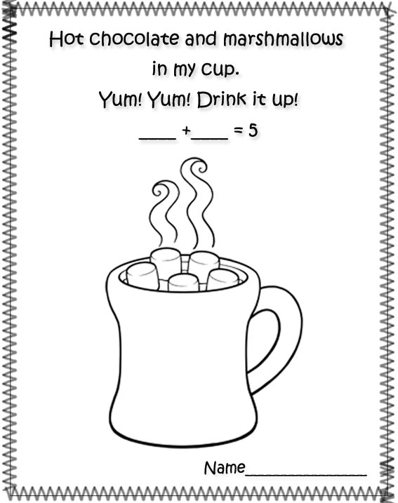 hot cocoa colouring page 3