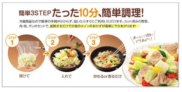 食材宅配コープの簡単料理キット