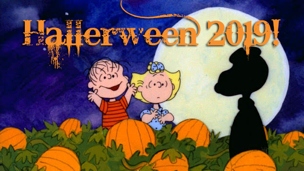 Hallerween 2019 Header Image with Peanuts Characters