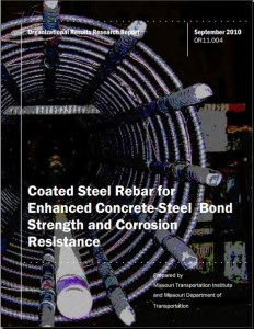 Coated Steel Rebar for Enhanced Concrete-Steel Bond Strength and Corrosion Resistance
