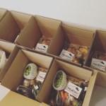リターンの美作産のお米・野菜・果物を送らせていただきました!