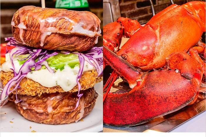 台中西區海鮮料理 | Fidèle妃黛美式海鮮餐廳-超狂手抓海鮮巨無霸龍蝦,甜甜圈漢堡新吃法,料多實在、份量超夠吃。