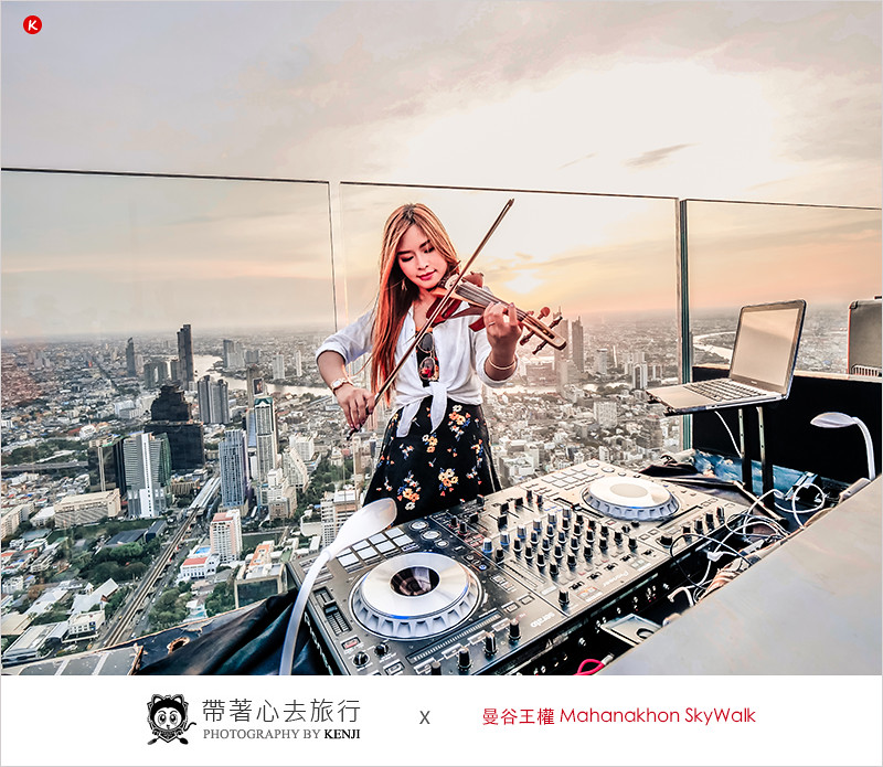 泰國曼谷最高景觀酒吧   曼谷王權Mahanakhon SkyWalk 曼谷最高透明玻璃天空步道,360度環景觀景台,高空酒吧,還有DJ放歌、免費wifi。