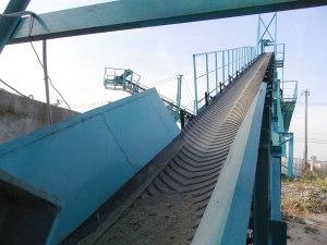 belt conveyor belt with cross bar (V-shaped, center gathering) 12.1.2017