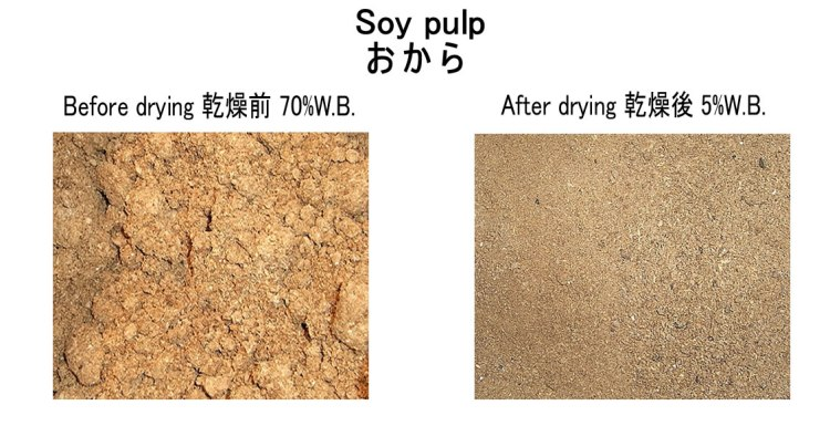 soy pulp drying before after 27.8.2017
