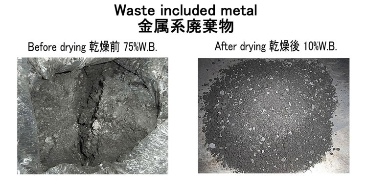 waste included metal drying kenkidryer 16.11.2016