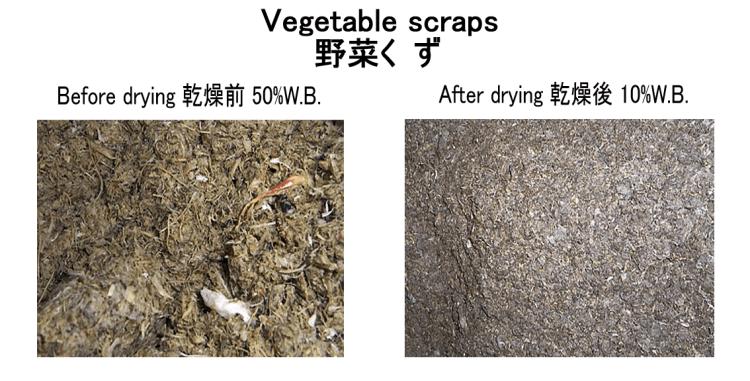 vegetable scraps drying kneki dryer 3.1.2018