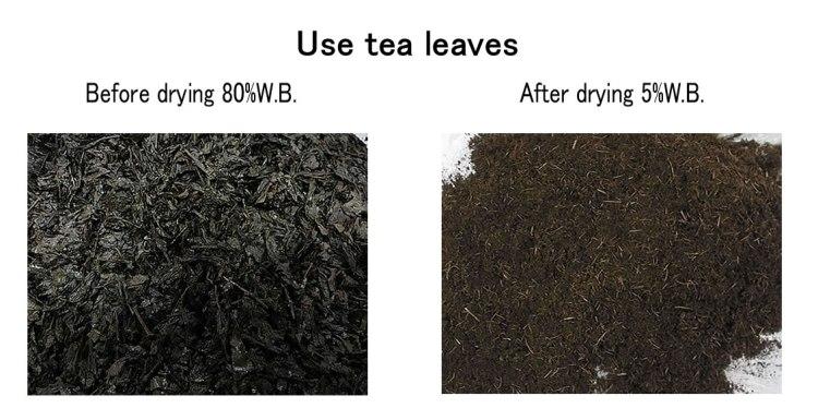 use tea leaves waste drying KENKI DRYER 25/4/2018