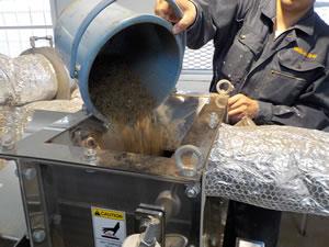 乾燥テスト 乾燥物投入