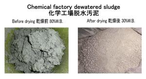 化学工場脱水汚泥 乾燥 汚泥乾燥 kenki dryer 2020.5.27
