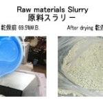 原料スラリー乾燥 液体乾燥 kenki dryer 2018.4.18