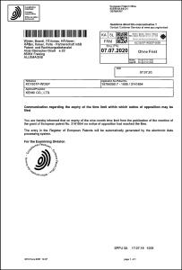 EU特許 ヨーロッパ特許 フランス ドイツ スイス イギリス 2020.8.9