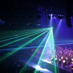 コンサートの演出に用いられるレーザー ヒートポンプ汚泥乾燥機 KENKI DRYER 2021.3.2