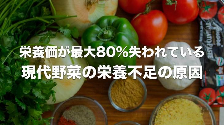 現代野菜は栄養不足?最大で80%も栄養価が失われている原因は?
