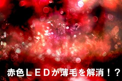 赤色LEDの薄毛改善効果