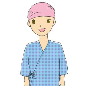 抗がん剤の副作用で脱毛した患者