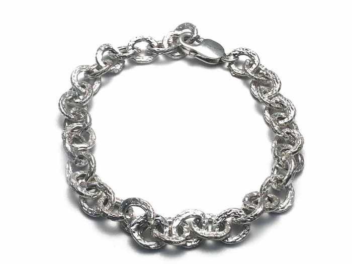 Biso bracelet, sterling silver