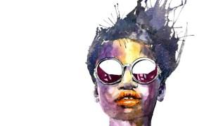 African fashion model