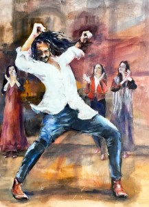 Indian flamenco painting