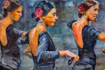 Flamenco, flamencoart, flamencopainting