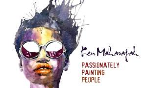 Watercolour portrait painterly style