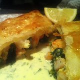 prawn and spinach pastries