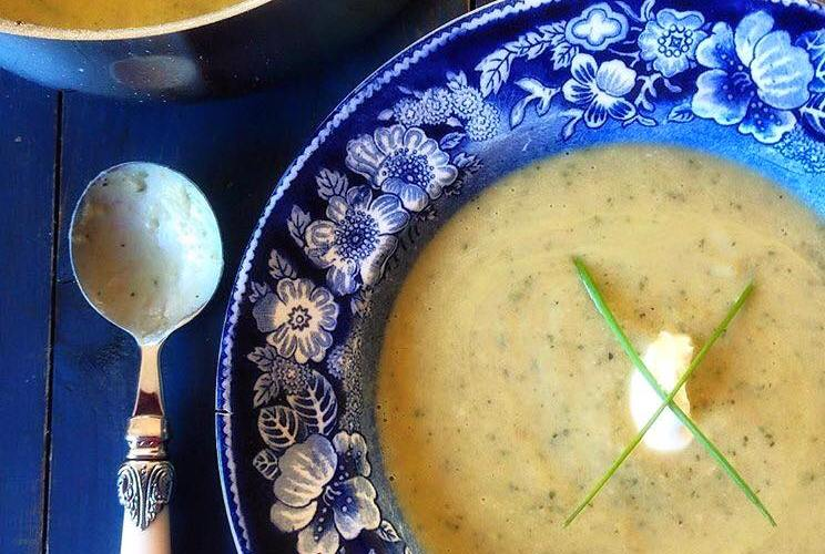 Courgette Butter Bean and Ham Soup