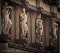 Statues in poses of dance
