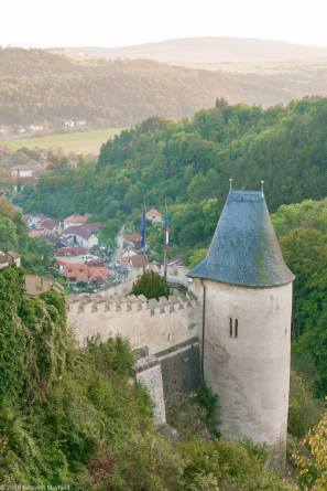 Karlstejn castle and view