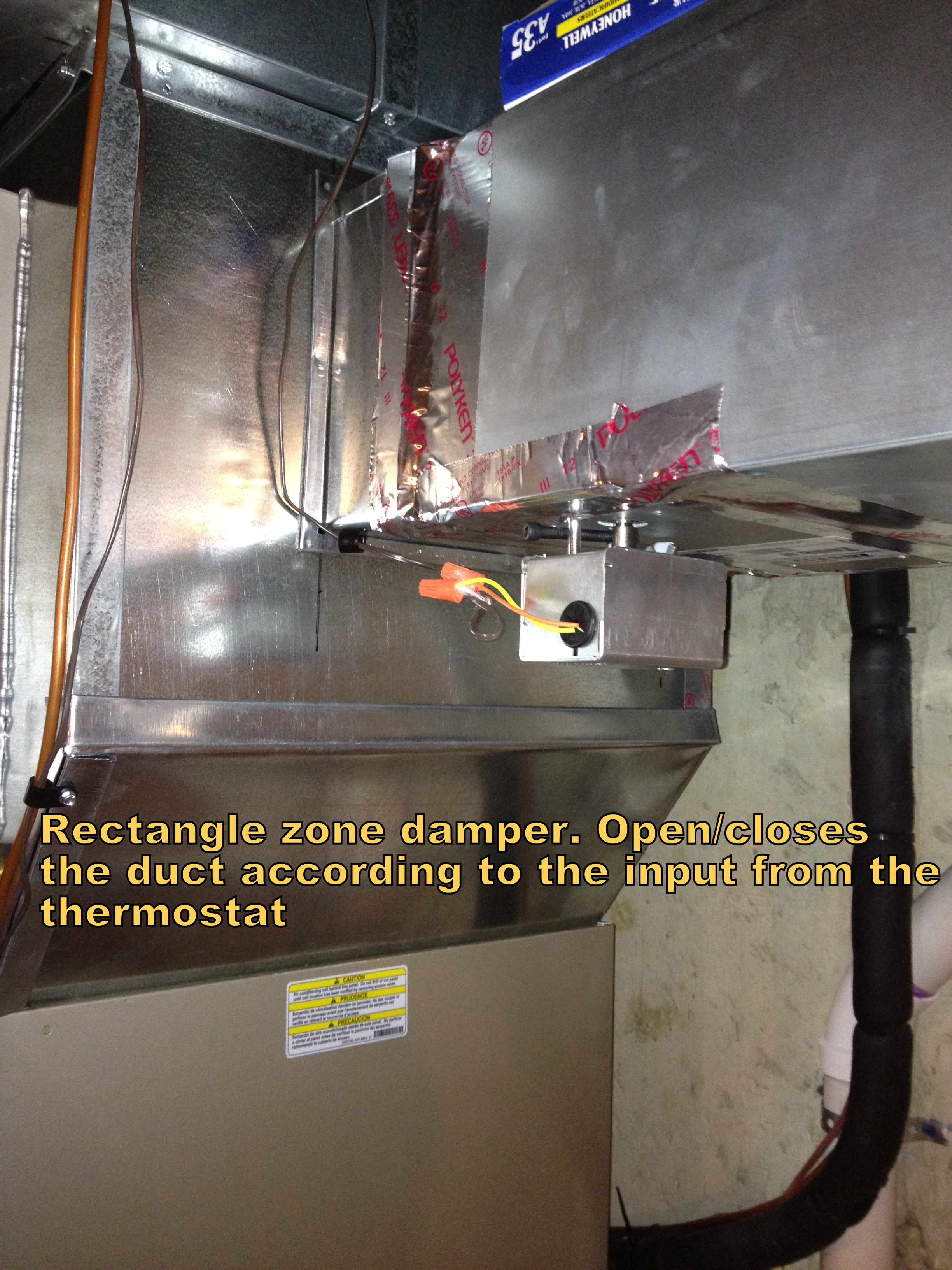 Zone damper rectangle - HVAC: Kenna Heat Cool Solutions Inc