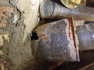 Bad flue pipe