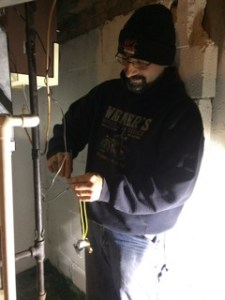 Jim is servicing a furnace