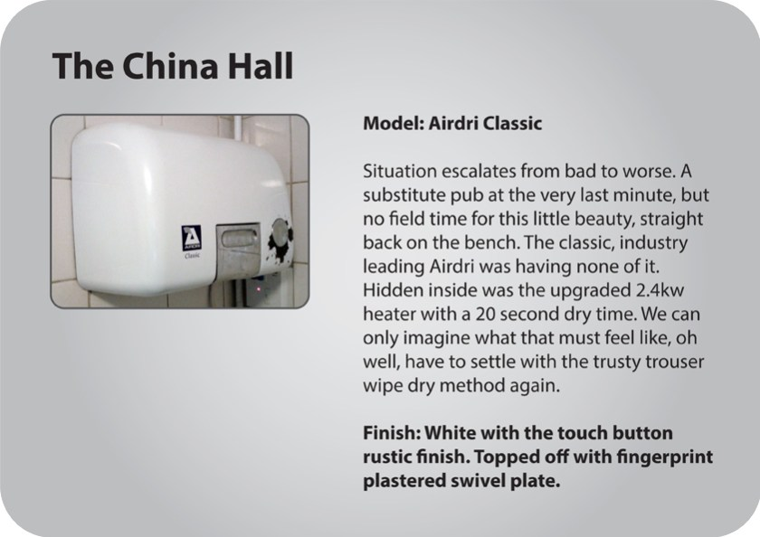 China Hall hand dryer