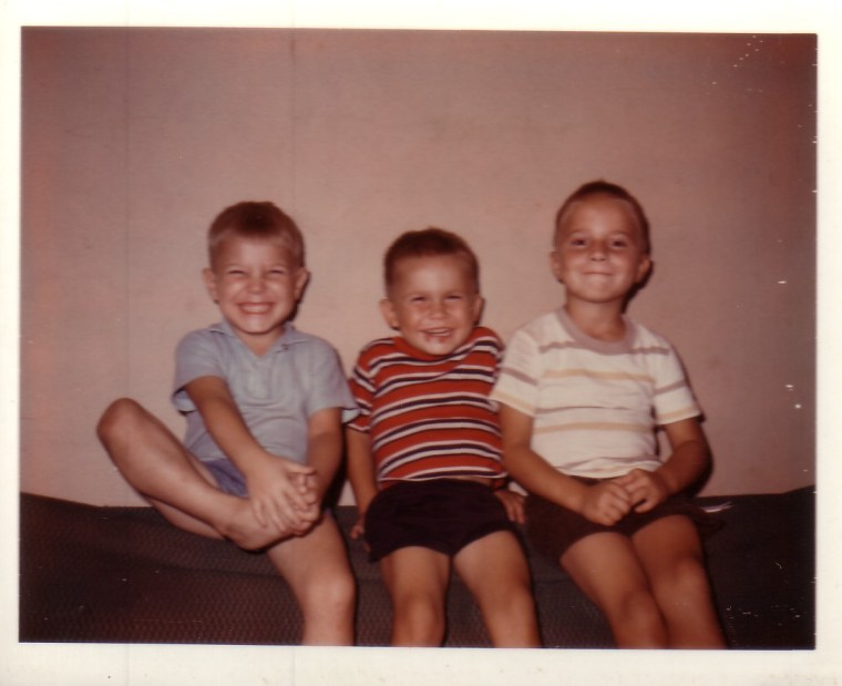 Bruce (far right) with his brothers