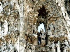 Sagrada Familia Nativity façade detail