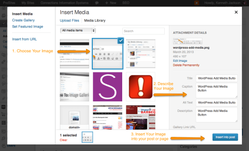 WordPress Insert Media Into a Post or Page