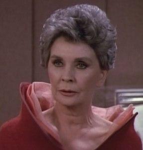 Jean Simmons in Star Trek TNG.