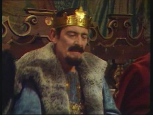 Gerald Flood as bad King John in Doctor Who