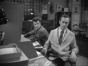 Brian Forbes (left) in Quatermass 2